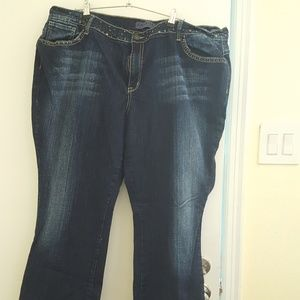 Zana*Di blue jeans, studded, blue label, sz 26